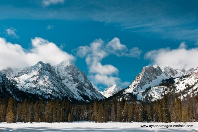 Rock Climbing Photo: Winter in the Sawtooth Range.