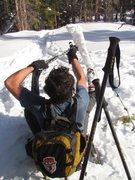 Rock Climbing Photo: Sawtooth range, warm January winter day