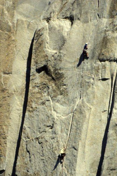 Rock Climbing Photo: Leading the stove-legs.  Photo: Tom Evans