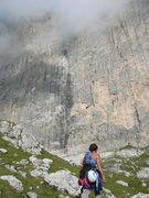 Rock Climbing Photo: Approaching the base (usually in the clouds in the...