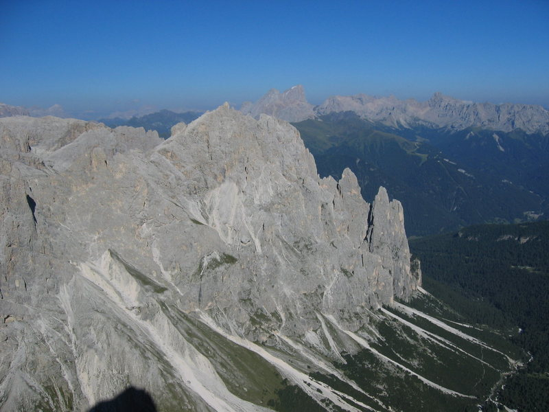 Rock Climbing Photo: View to the North East when high on the wall