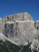 Rock Climbing Photo: Southern Mountain in Sella Group - Sass Pordoi