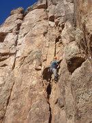 Rock Climbing Photo: Dave Wayne leading Poncho.