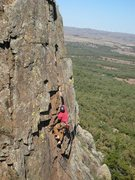 Rock Climbing Photo: Top-roping High Anxiety (5.7)