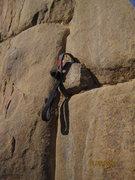 Rock Climbing Photo: Hookin' a pebble....
