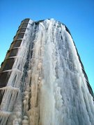 Rock Climbing Photo: Wider ice forming now.