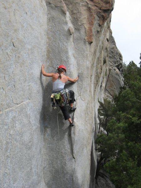 Rock Climbing Photo: Beginning up.