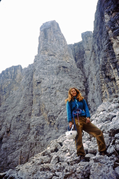 Rock Climbing Photo: The quick approach with the mountain in the backgr...