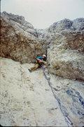 Rock Climbing Photo: The crux roof crack