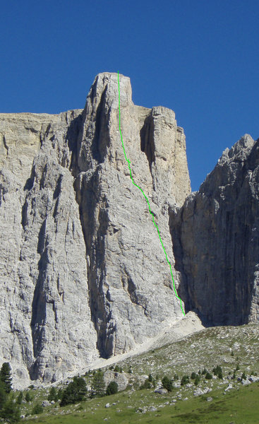 Rock Climbing Photo: Vinatzer route - Sella Tower III