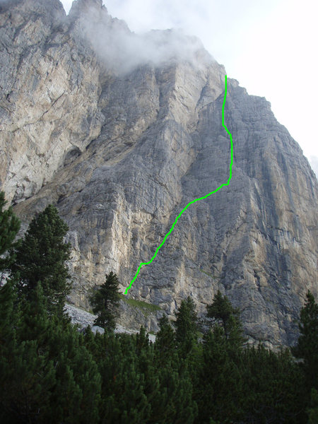 Sass Da Ciampac Old South Face Route