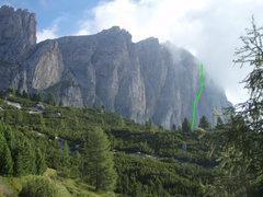 Rock Climbing Photo: Sass da Ciampac from the approach trail