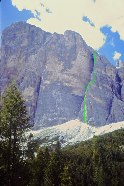 South Face Buttress 1 - South Arete route