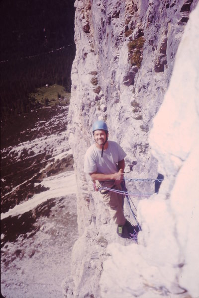 Rock Climbing Photo: Belaying on the arete