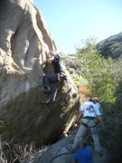 Rock Climbing Photo: Eric Odenthal with the first clip on 1-23-11