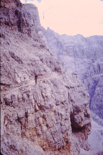 Rock Climbing Photo: The descent trail from the top of the pillar - be ...