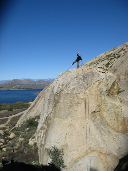 Rock Climbing Photo: Eric Odenthal probably should clip those anchors o...