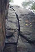 Rock Climbing Photo: It's wide.