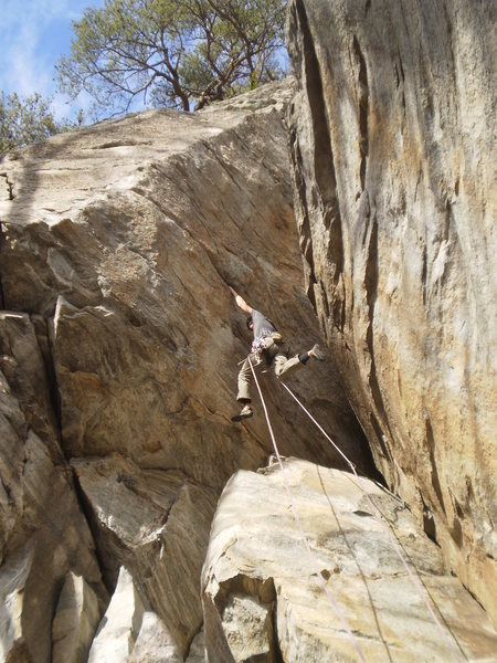 Rock Climbing Photo: Starting the crux of Pumping in Rhythm