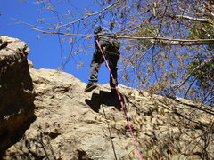 Rock Climbing Photo: rappeling off east face
