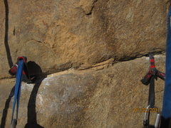 Rock Climbing Photo: Undercling cam hook and backup Talon....