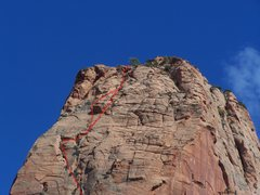 Rock Climbing Photo: Top section of the West Face of Paria Point.