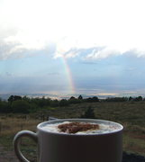 Rock Climbing Photo: Morning latte taken from the front porch on Cedar ...