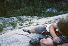 Rock Climbing Photo: James Havens over Yosemite Valley