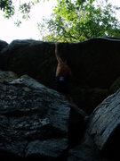 Rock Climbing Photo: Day Tripper Direct...  huge reach