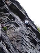 Rock Climbing Photo: Finishing the traverse...  2nd pitch