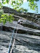Rock Climbing Photo: start of traverse on pitch 2