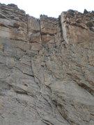 Rock Climbing Photo: Seeking info vs. possible FA.  We climbed a direct...