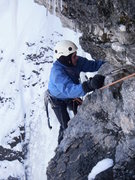 Rock Climbing Photo: Jim Black making the final moves on Tourist Trap.