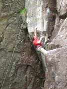 Rock Climbing Photo: Mitch Hoffman on White Arete