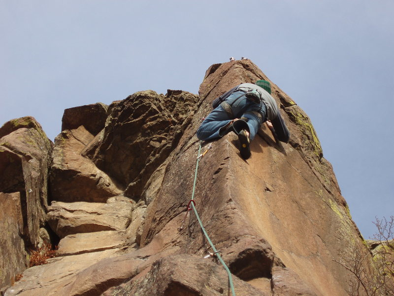 Rock Climbing Photo: Up on the Sunset Arete. Photo: Eggleston.