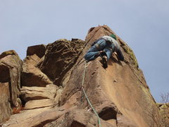Rock Climbing Photo: Up on the Sunset Arete. Photo: Eggleston.