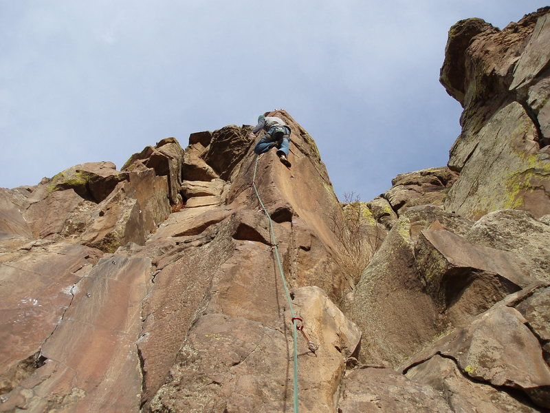 Rock Climbing Photo: Looking up the route.  Photo: Eggleston.