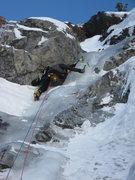 "Rock Climbing Photo: Climbing ""charcoal"" classy route in pine..."