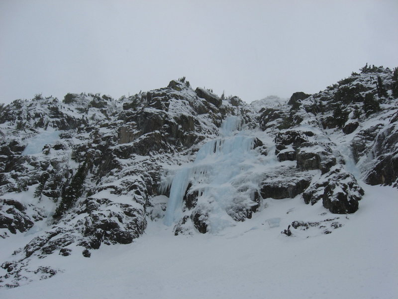 Pine creek in fat conditions, January 2011.