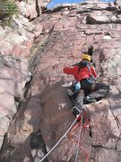 Rock Climbing Photo: Winter aid.  Climbing in winter without freezing y...