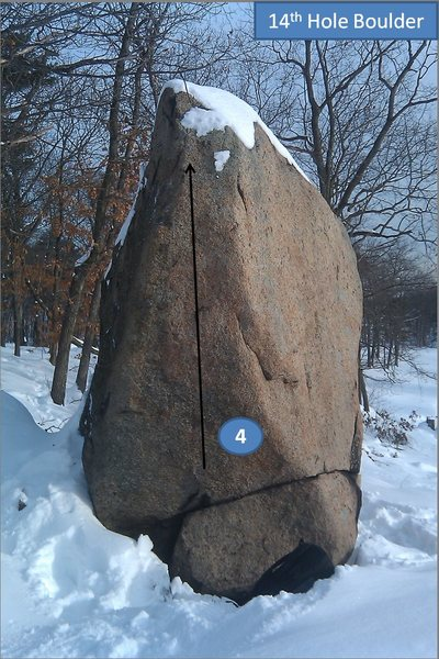 Rock Climbing Photo: 14th Hole Boulder 4) Baldy.