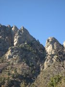 Rock Climbing Photo: The Spire viewed from the Pine tree Trail (from th...