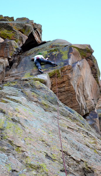 M. Lloyd on the first ascent of Thirsty.