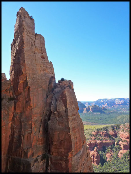 The top of Earth Angel, as seen from high up Made In The Shade in Sedona, AZ.