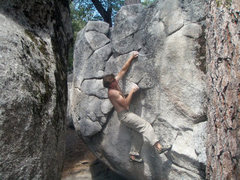 Rock Climbing Photo: About to traverse to the crimp. Moving your foot o...