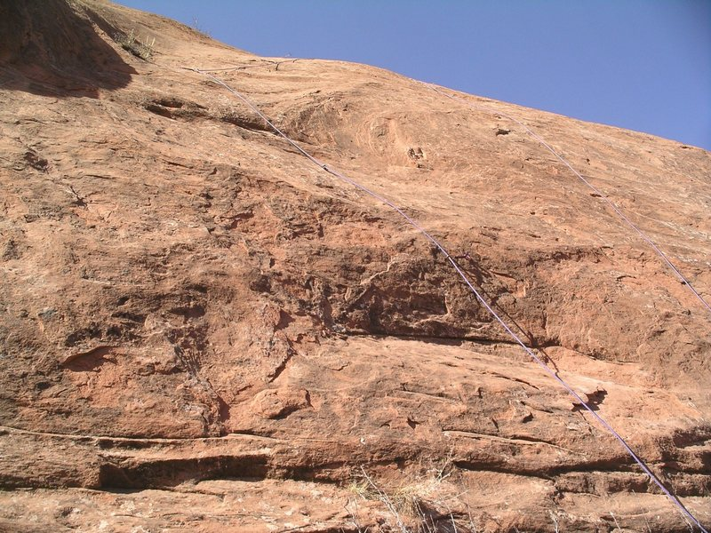Rock Climbing Photo: Not a great photo, but the rope on the left side l...