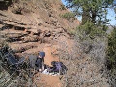 Rock Climbing Photo: Under the start of Big E.