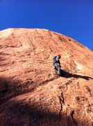 Rock Climbing Photo: Initial ramp on Zodian Flakes.  Easy climbing to t...