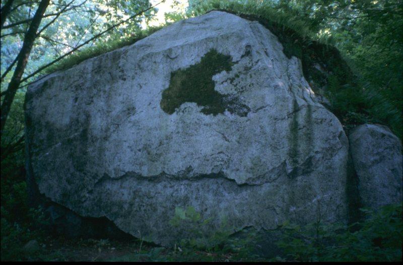 Rock Climbing Photo: Paleface Boulder, summer 2003