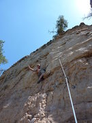Rock Climbing Photo: Aerial Solution - don't go left like my buddy in t...